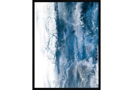 32X42 Abstract Ocean'S Breath With Black Frame