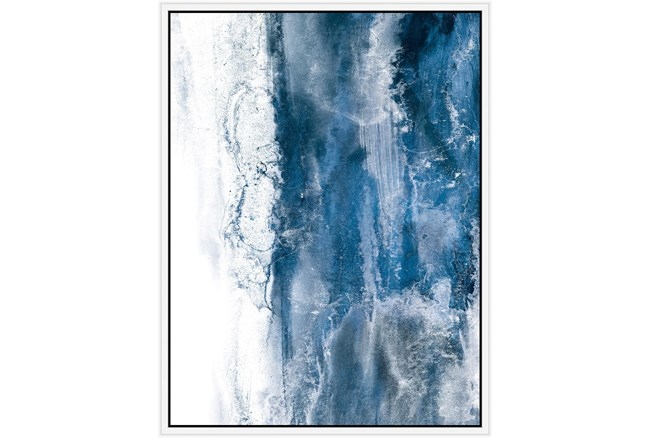 32X42 Abstract Ocean'S Breath With White Frame  - 360