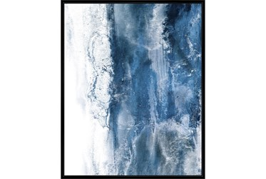 42X52 Abstract Ocean'S Breath With Black Frame
