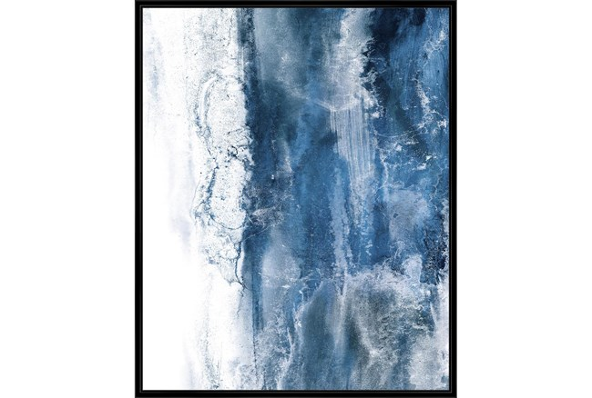 42X52 Abstract Ocean'S Breath With Black Frame  - 360