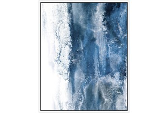 42X52 Abstract Ocean'S Breath With White Frame