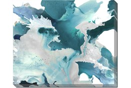 24X20 Turquoise Abstraction With Gallery Wrap Canvas