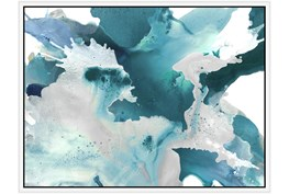 42X32 Turquoise Abstraction With White Frame