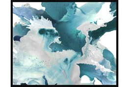 52X42 Turquoise Abstraction With Black Frame
