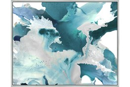 52X42 Turquoise Abstraction With Silver Frame