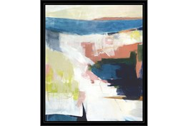 22X26 Abstract Road Less Traveled With Black Frame