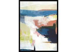 32X42 Abstract Road Less Traveled With Black Frame