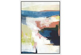 32X42 Abstract Road Less Traveled With White Frame