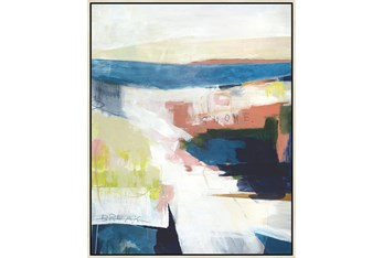 42X52 Abstract Road Less Traveled With Birch Frame