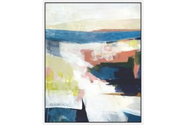 42X52 Abstract Road Less Traveled With White Frame
