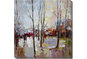 45X45 Rainy Days In The City With Gallery Wrap Canvas