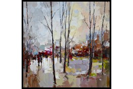 38X38 Rainy Days In The City With Black Frame