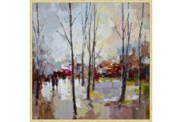 47X47 Rainy Days In The City With Gold Frame