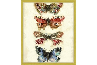 22X26 Butterflies With Gold Frame