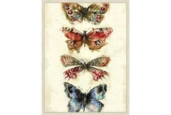32X42 Butterflies With Birch Frame