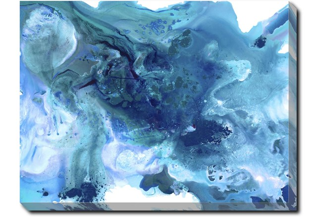 40X30 Sapphire City With Gallery Wrap Canvas - 360