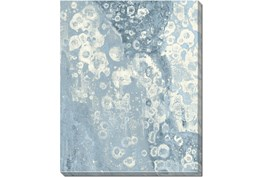 40X50 Blue Scalloped With Gallery Wrap Canvas
