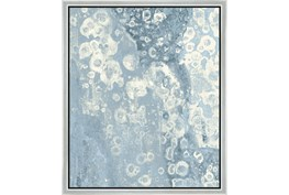 22X26 Blue Scalloped With Silver Frame