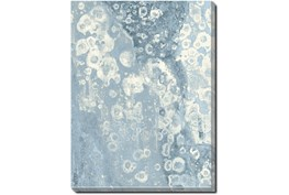 32X42 Blue Scalloped With Silver Frame