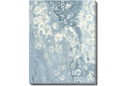 42X52 Blue Scalloped With Silver Frame