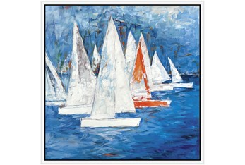 38X38 Sailboats With White Frame