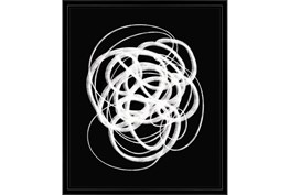 22X26 B&W Circles With Black Frame