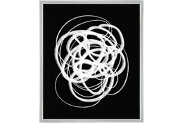 22X26 B&W Circles With Silver Frame