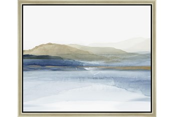 26X22 Wonderous Water With Champagne Frame