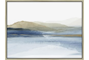 42X32 Wonderous Water With Champagne Frame