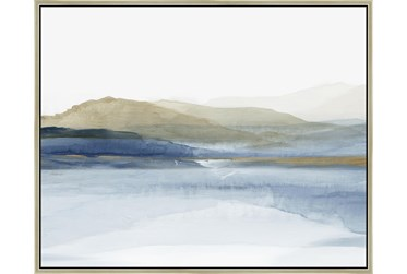 52X42 Wonderous Water With Champagne Frame