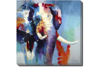 36X36 The Mighty Elephant With Gallery Wrap Canvas