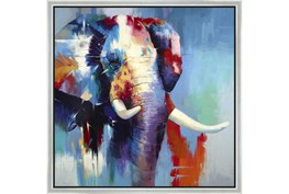 26X26 The Mighty Elephant With Silver Frame