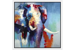 26X26 The Mighty Elephant With White Frame