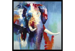 38X38 The Mighty Elephant With Black Frame