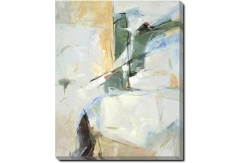 40X50 Abstract View Into The Valley With Gallery Wrap Canvas