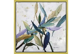 26X26 Multi Color Leaves With Gold Frame