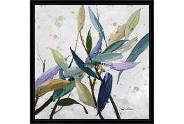 26X26 Multi Color Leaves With Black Frame
