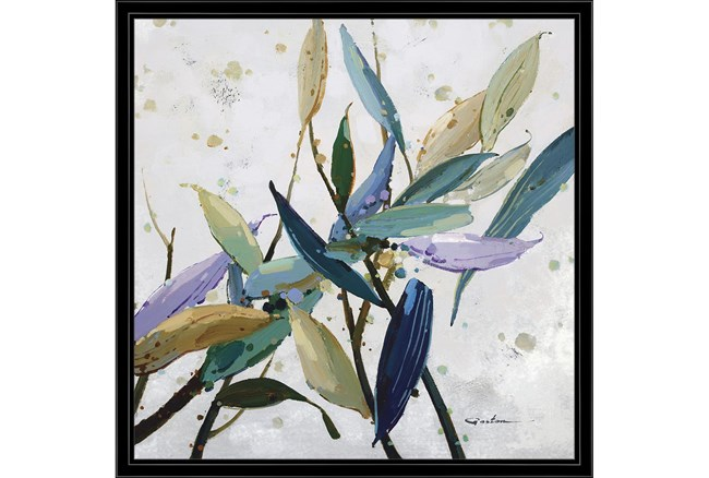 26X26 Multi Color Leaves With Black Frame - 360