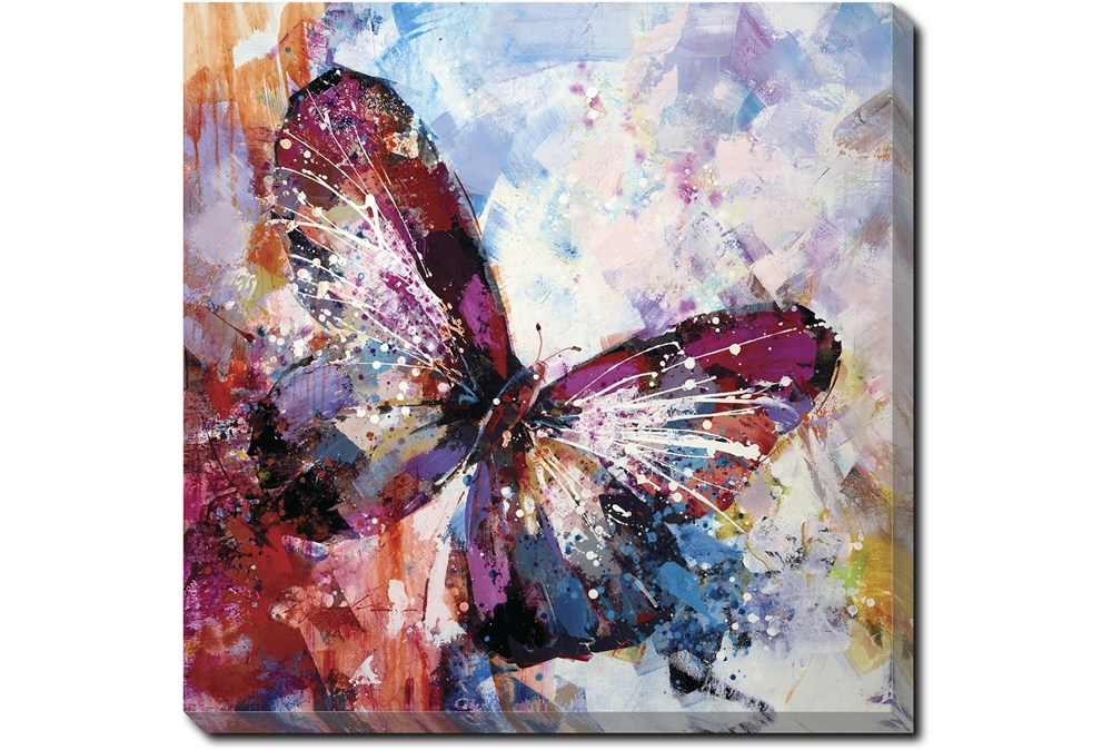 36X36 Winged Beauty Butterfly With Gallery Wrap Canvas