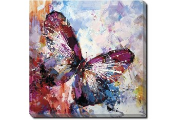 45X45 Winged Beauty Butterfly With Gallery Wrap Canvas