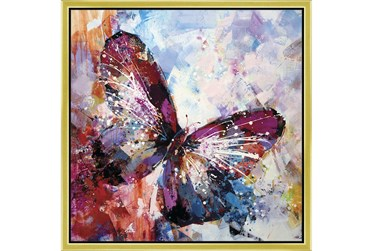 26X26 Winged Beauty Butterfly With Gold Frame