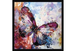 26X26 Winged Beauty Butterfly With Black Frame