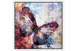 26X26 Winged Beauty Butterfly With White Frame