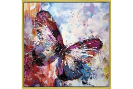 38X38 Winged Beauty Butterfly With Gold Frame