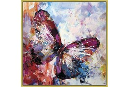 47X47 Winged Beauty Butterfly With Gold Frame