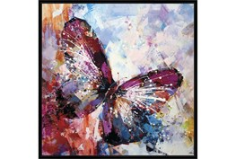 47X47 Winged Beauty Butterfly With Black Frame