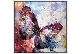 47X47 Winged Beauty Butterfly With White Frame