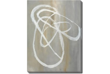 30X40 Abstract Swish With Gallery Wrap Canvas