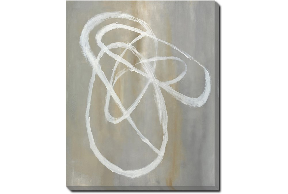40X50 Abstract Swish With Gallery Wrap Canvas