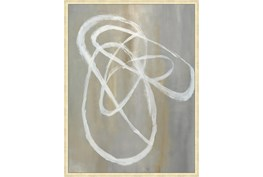 32X42 Abstract Swish With Gold Champagne Frame